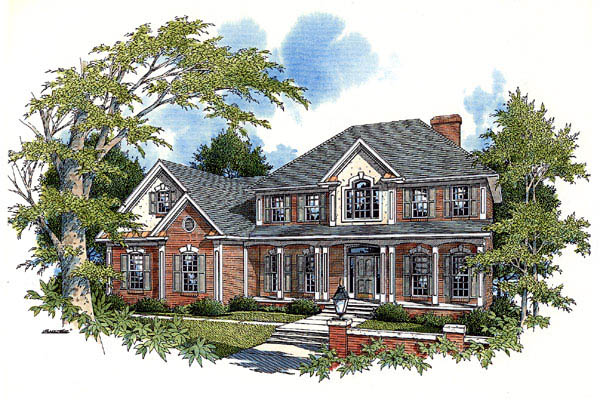 Country European House Plan 92419 Elevation