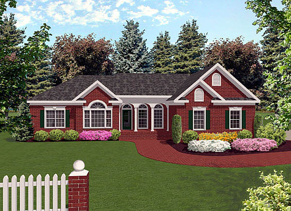 House plan 92421 at for L shaped craftsman home plans