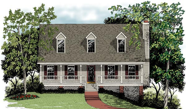 cape cod country house plan 92423 elevation