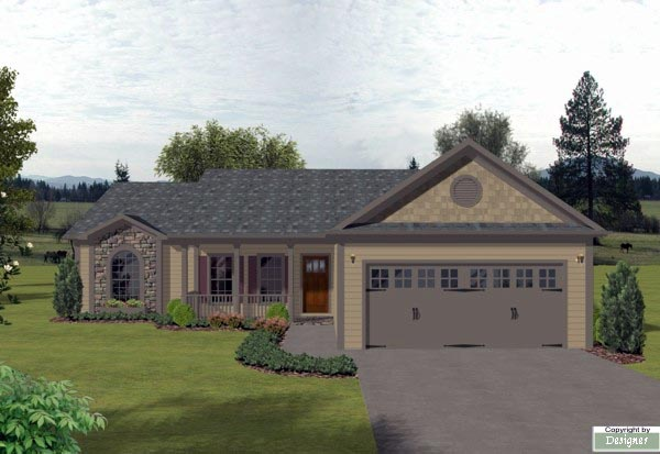 Bungalow Country House Plan 92425 Elevation
