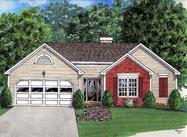 Ranch House Plan 92431 Elevation