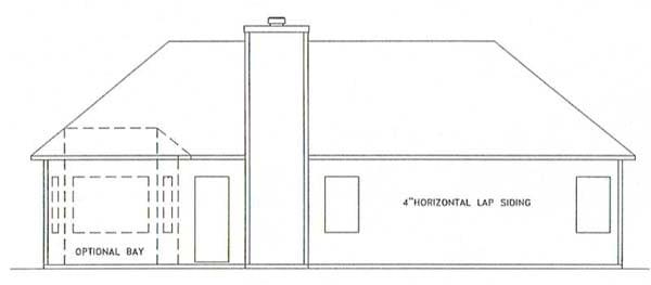 Ranch House Plan 92431 Rear Elevation