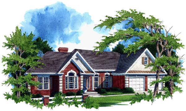 Ranch House Plan 92435 Elevation