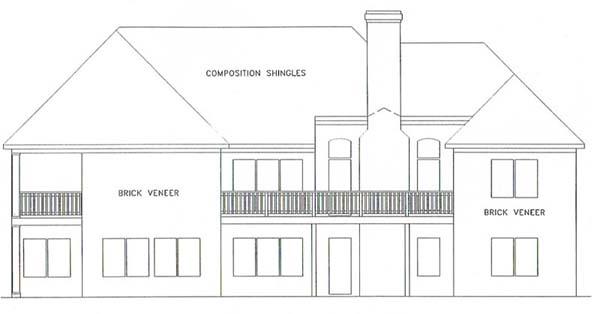 Ranch House Plan 92435 Rear Elevation