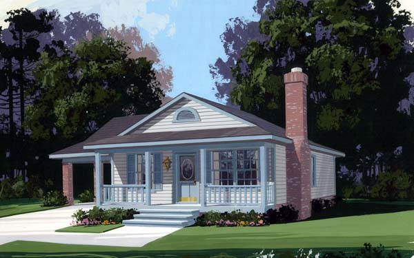 Elevation of Country   House Plan 92438