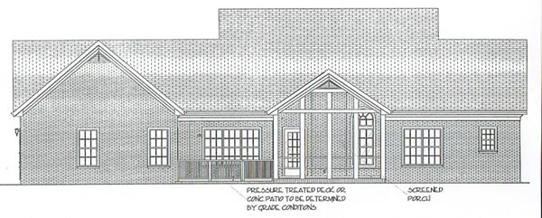 Colonial Country House Plan 92443 Rear Elevation