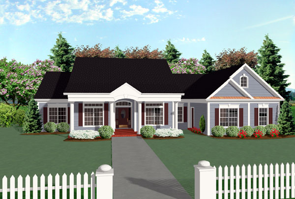 Country House Plan 92444 Elevation