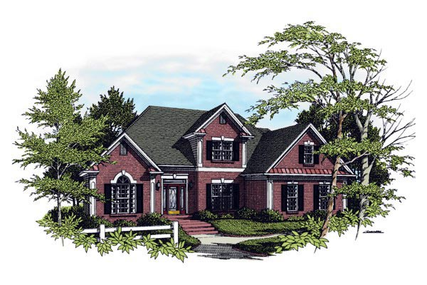 Traditional House Plan 92450 Elevation