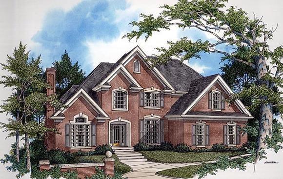 European, Tudor House Plan 92452 with 4 Beds, 4 Baths Elevation