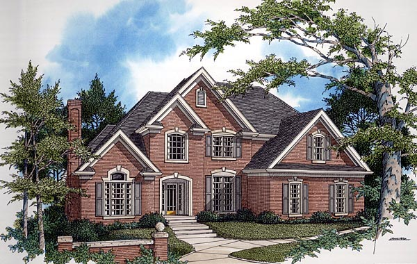 European Tudor House Plan 92452 Elevation