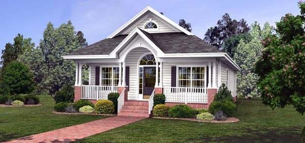 Bungalow Country House Plan 92459 Elevation