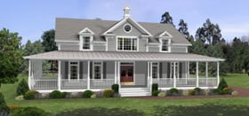 Elegant Southern Style Country House Plan Family Home