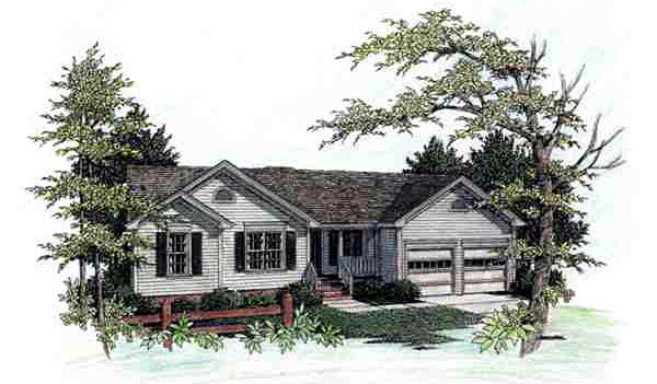 Ranch House Plan 92478 Elevation