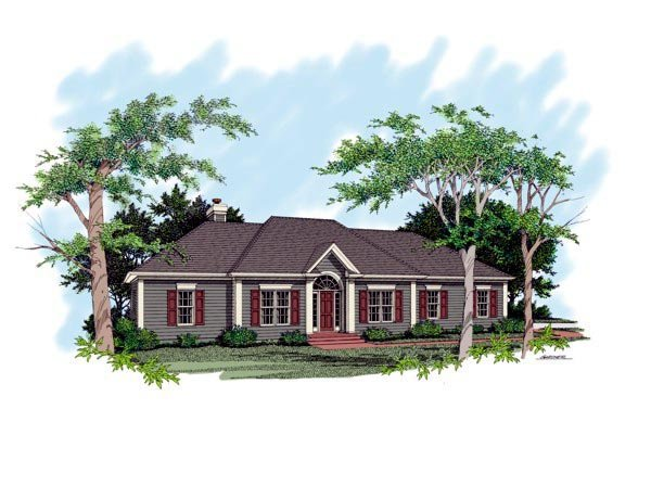 Traditional House Plan 92495 Elevation