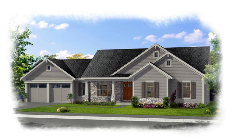 Ranch House Plan 92616 Elevation