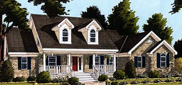 Cape Cod , Country , Southern House Plan 92653 with 3 Beds, 3 Baths, 2 Car Garage Elevation