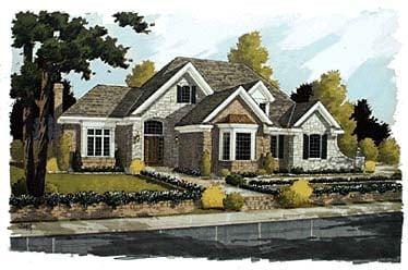 Bungalow European House Plan 92661 Elevation