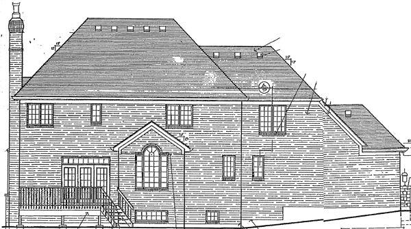 Tudor Victorian House Plan 92666 Rear Elevation