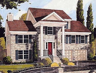 Colonial, Country House Plan 92670 with 3 Beds, 5 Baths, 2 Car Garage Elevation