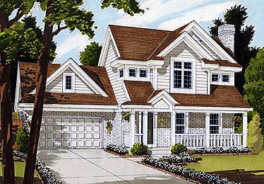 Bungalow, Country, Farmhouse House Plan 92686 with 3 Beds, 3 Baths, 2 Car Garage Elevation