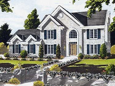 European House Plan 92692 Elevation