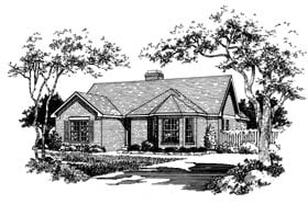 Plan Number 93005 - 1125 Square Feet