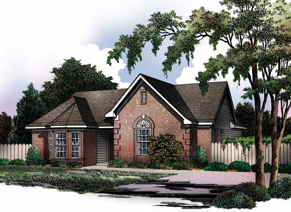 European, Ranch, Traditional House Plan 93015 with 3 Beds, 2 Baths Elevation