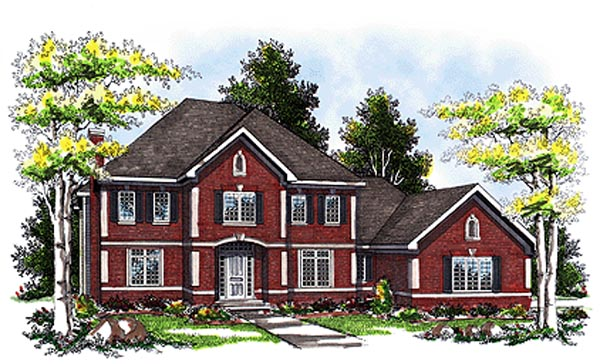 Colonial European House Plan 93111 Elevation