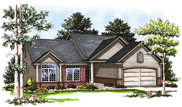 Country House Plan 93129 Elevation