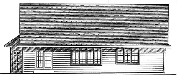 Ranch House Plan 93130 Rear Elevation