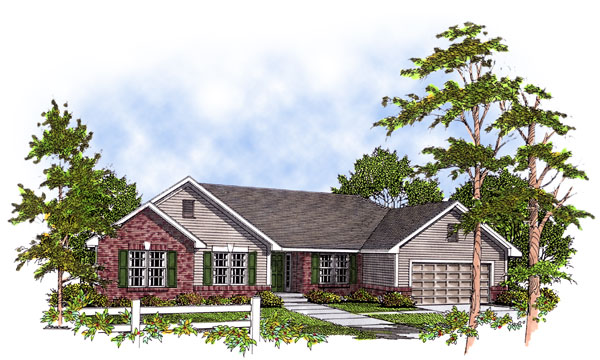 Ranch House Plan 93133 Elevation