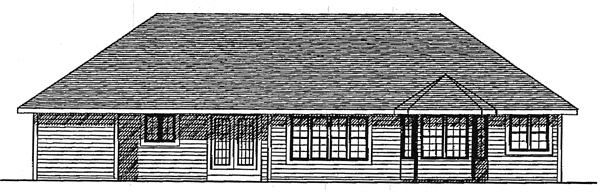 Ranch House Plan 93133 Rear Elevation