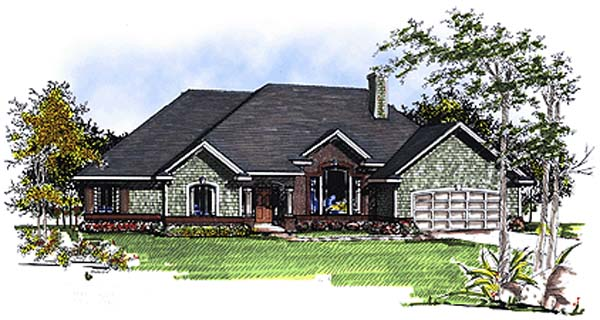 European House Plan 93146 Elevation
