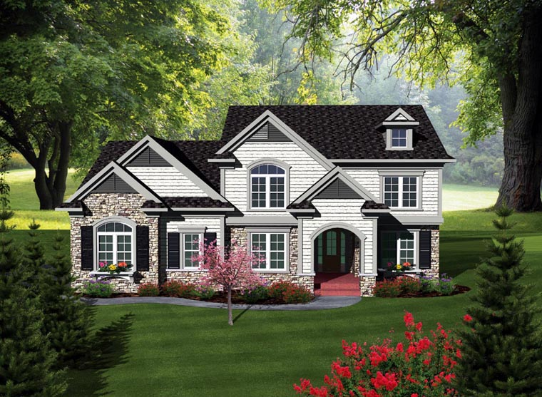 Traditional House Plan 93156 Elevation