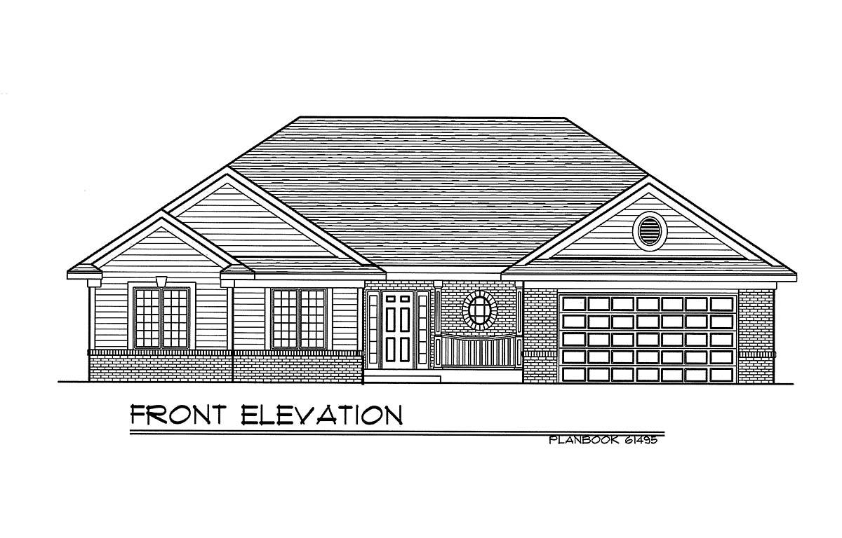 European Ranch House Plan 93161 Elevation
