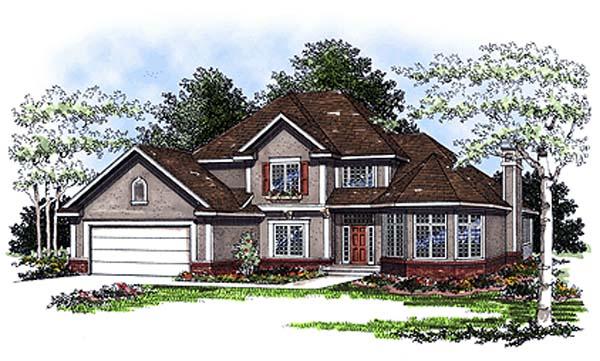 European Victorian House Plan 93163 Elevation