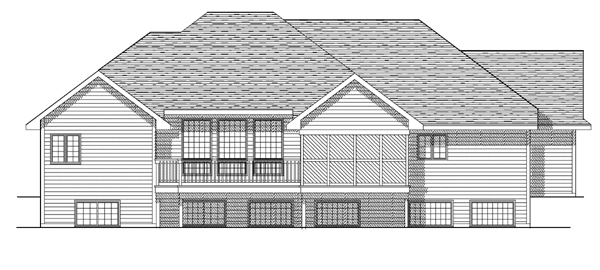 Traditional House Plan 93170 Rear Elevation
