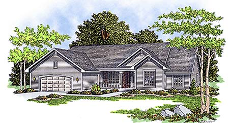 Ranch House Plan 93190 Elevation