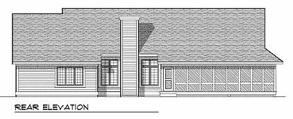Ranch House Plan 93190 Rear Elevation