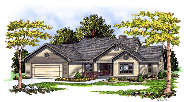 Ranch House Plan 93191 Elevation