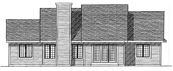 Ranch House Plan 93191 Rear Elevation