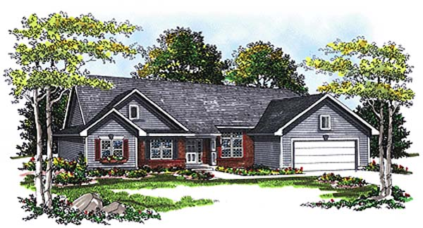 Ranch House Plan 93194 Elevation
