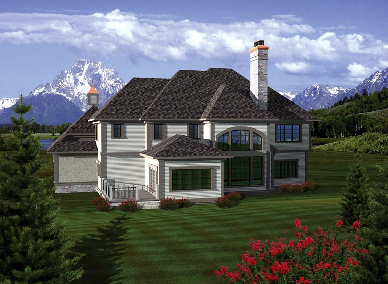 Traditional House Plan 93197 Rear Elevation