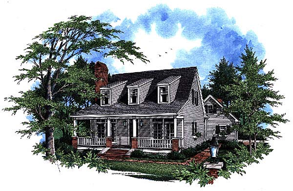Cape Cod Country House Plan 93412 Elevation