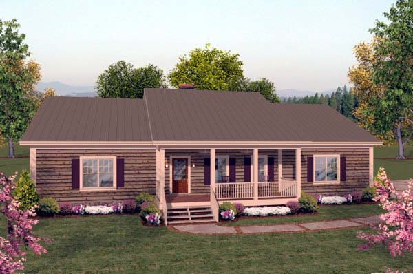 House Plan 93480 Elevation
