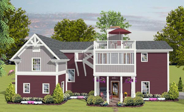 Craftsman Garage Plan 93485 Rear Elevation