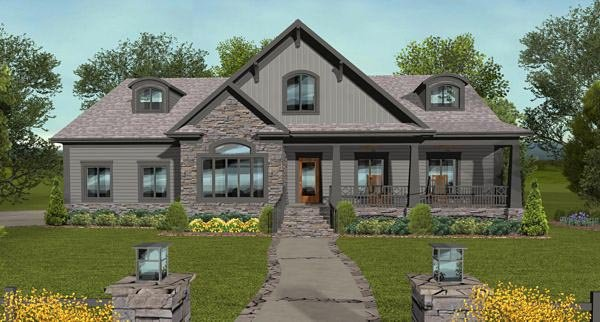 Bungalow Country Craftsman House Plan 93495 Elevation