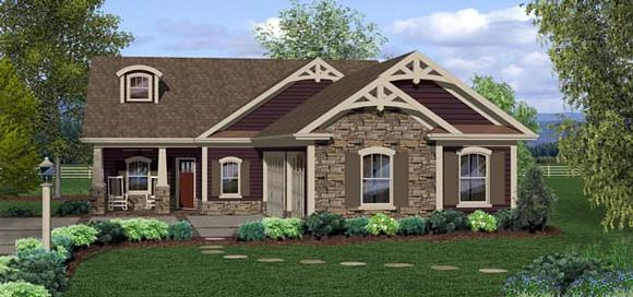 Cottage, Country, Craftsman House Plan 93498 with 3 Beds, 3 Baths, 3 Car Garage Elevation