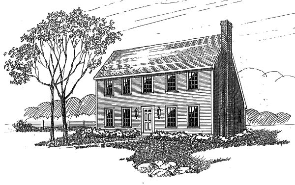 Simple Saltbox House Plans A Reproduction Colonial L