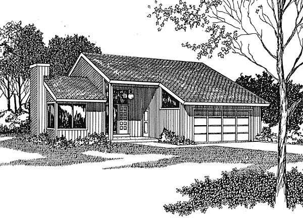 Contemporary House Plan 94011 Elevation